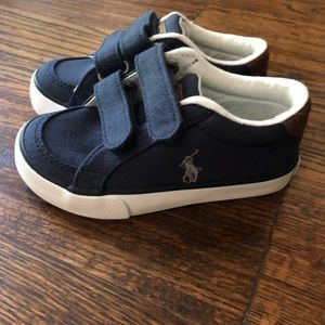 Polo Ralph Lauren Navy Canvas Shoes Toddler 8 NEW